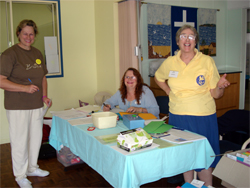 Volunteers at the 2007 Gathering in Margate, near Brisbane, ready to welcome attendees as they arrive.