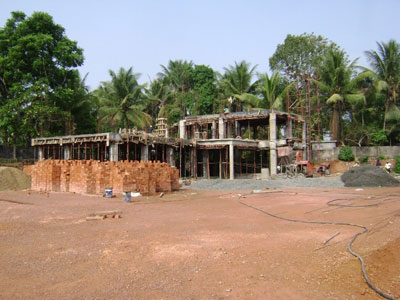 Another view of the construction site. (Spring 2009)