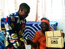 George Vimensi Minang with Juliana Rowe in The Gambia 2011