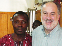 George Vimensi Minang with Tim Coombs in The Gambia 2011